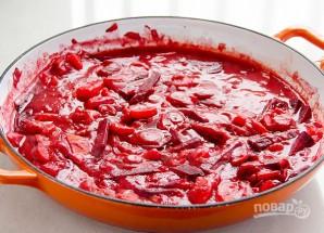 Красный борщ со свеклой - фото шаг 4