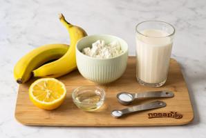 Постные блины с бананом - фото шаг 1