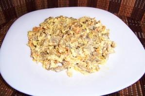 Салат с печенью и фасолью - фото шаг 6