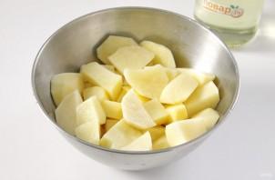 Картофель с копченой колбасой - фото шаг 2