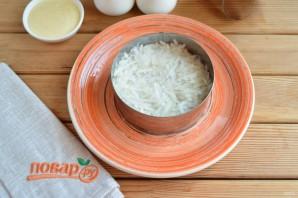 Слоеный салат из редьки - фото шаг 4