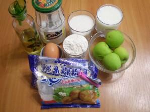 Манник с яблоками на кефире - фото шаг 1