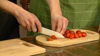 Тарталетки с ветчиной и помидорами - фото шаг 3