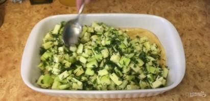 Пирог с кабачками и зеленью - фото шаг 4