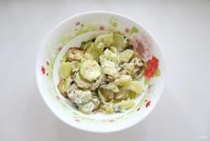 Салат с кабачками и баклажанами - фото шаг 12