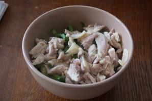Салат с мясом и огурцом - фото шаг 5