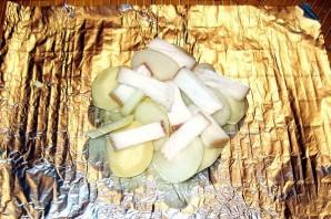 Картошка с салом в духовке в фольге - фото шаг 3