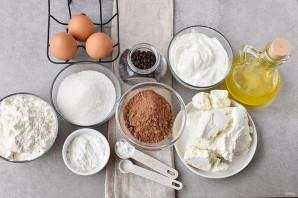 Шоколадный пирог с творогом - фото шаг 1