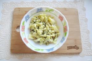 Салат со свининой и солеными огурцами - фото шаг 7