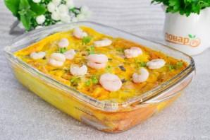 Запеканка из белой рыбы с креветками в томатном соусе - фото шаг 6