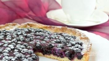 Пирог из песочного теста с замороженными ягодами - фото шаг 8