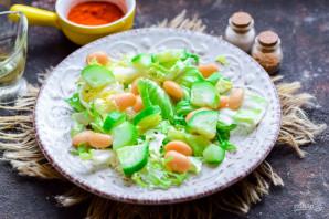 Салат с тунцом и белой фасолью - фото шаг 4