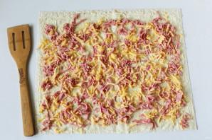 Ленивые пирожки из лаваша - фото шаг 3