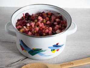 Винегрет с солеными огурцами и горошком - фото шаг 7