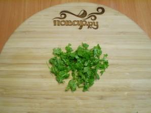 Жареные баклажаны с чесноком и зеленью - фото шаг 5
