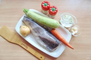 Хек с кабачками в духовке - фото шаг 1