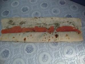 Рулет из лаваша с плавленым сыром - фото шаг 3
