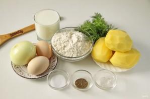 Заливной пирог с картошкой на кефире - фото шаг 1