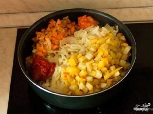 Овощное рагу с мясом и картошкой - фото шаг 3