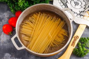 Спагетти с творожным сыром