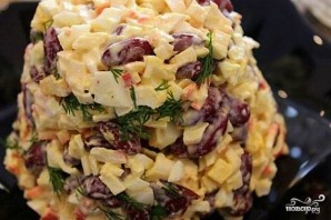 Крабовый салат с фасолью - фото шаг 6