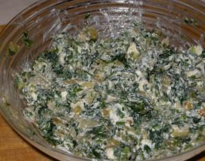 Кутабы с сыром и зеленью - фото шаг 4