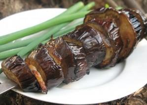 Баклажаны с салом на мангале - фото шаг 6