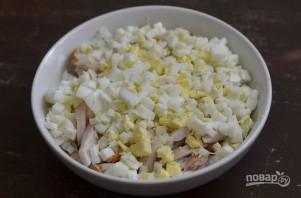 Салат с грудкой и грибами - фото шаг 5