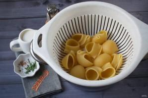 Ракушки, запеченные с тыквой и сыром - фото шаг 2
