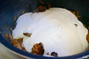 Куриная печень в сметанном соусе - фото шаг 8