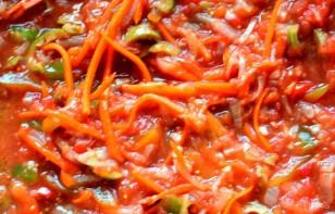 Рулеты из хека на овощной подушке - фото шаг 3