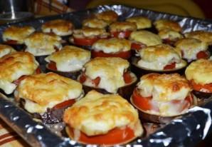 Баклажаны с грибами, запеченные в духовке - фото шаг 9