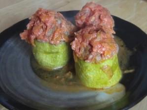 Кабачки, фаршированные мясом и рисом - фото шаг 6