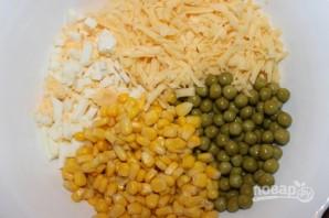 Салат с сыром и грибами - фото шаг 1