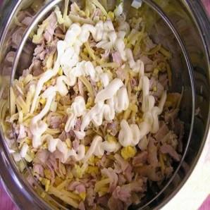 Салат из курицы с сыром - фото шаг 5