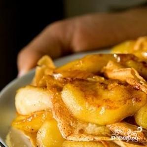 Карамельные блинчики с яблоками  - фото шаг 10