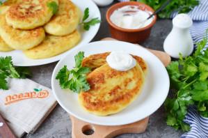Фаршированные картофельные оладьи - фото шаг 12