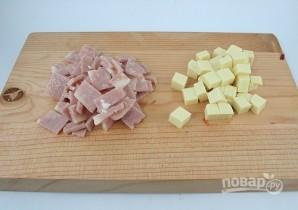 Сырный салат с ветчиной и овощами - фото шаг 3