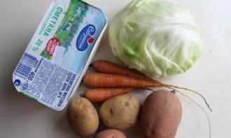 Овощное рагу со сметаной - фото шаг 1