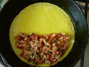 Омлет с рисом - фото шаг 7