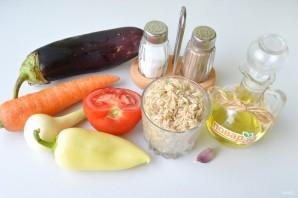 Рис с баклажанами и сладким перцем - фото шаг 1