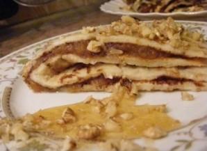 Блины с мёдом и орехами - фото шаг 5