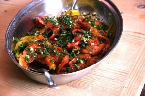 Салат из запеченного перца - фото шаг 5