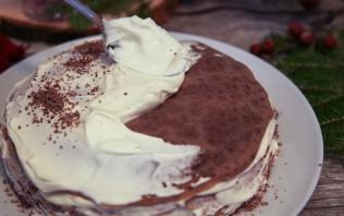 Блинный торт со сливочным кремом - фото шаг 7