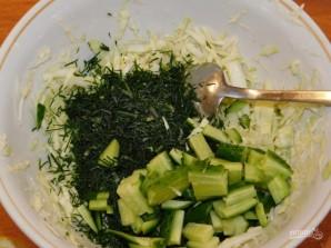 Хрустящий салат с капустой - фото шаг 2