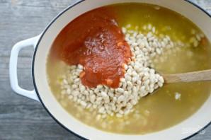 Фасолевый суп с беконом - фото шаг 4
