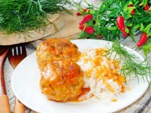 Тефтели с грибами в сливочно-томатном соусе - фото шаг 8