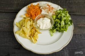 """Вкусный салат """"Сделай сам"""" - фото шаг 6"""