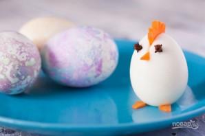 Пасхальные яйца для праздничного стола - фото шаг 1