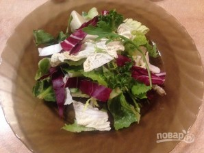 Свежий салат с апельсином и орехами - фото шаг 3